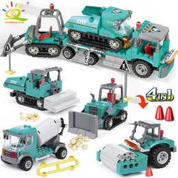 toy trucks for boys Australia - 462pcs 4in1 City Engineering Building Blocks Truck Excavator Bulldozer Vehicle Bricks Set Construction Toys For Children Boy