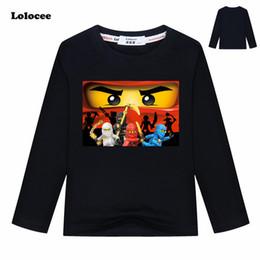 $enCountryForm.capitalKeyWord Australia - Kids Spring Ninjago Kai Cartoon T Shirts Boys Ninja Movie Clothing Cotton Tees Girls Tops Kids Autumn Costume Tshirts 3-13y Y190516