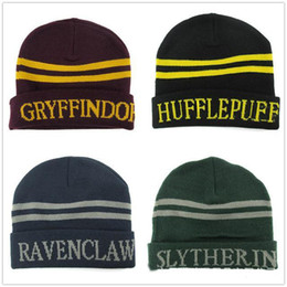 $enCountryForm.capitalKeyWord Australia - Hot Harri Potter Movie Gryffindor Knitting Hat Beanie Cotton Warm Cosplay Costume Unisex Fashion Cool Practical Gifts