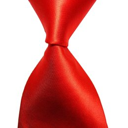 China Red Tie Burgundy Black Blue Men Necktie Silk Solid Color Plain 10cm Width Jacquard Woven Formal Wear Business Suit Wedding Party cheap jacquard necktie suppliers