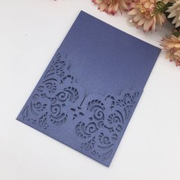 $enCountryForm.capitalKeyWord NZ - 20PCS  lot Elegance Style Hollow Flower Lace Invitation Card Supply To Wedding Ceremony Grand Traditional Festival Invitations