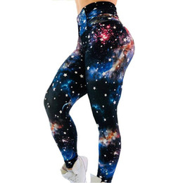 ankle leggings wear UK - free shipping women Leggings 777 New Cosmic Star Print Sports Fitness Wear Bottoming Sports Yoga Pants Women