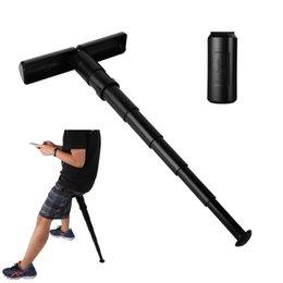 Sgabello telescopico portatile di plastica nera di forma di T con il sacco del cordone messo all'aperto di sport dei pesci Aspetta la sedia pieghevole Sit 025 in Offerta