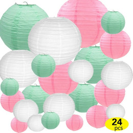 $enCountryForm.capitalKeyWord Australia - White Pink Mint Green Paper Lantern Mixed Sizes for Wedding Baby Shower Party Decoroation Supplies DIY