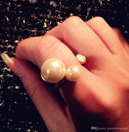 Shipping Free China Ring Pearl Australia - Middle east Wedding Lovers Rings 18K Real Gold Top quality brass with pearl cross design for women Rings Jewelry Free Shipping PS5463