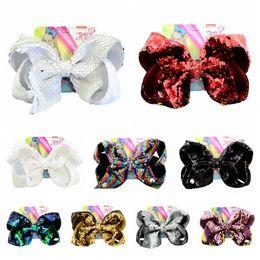 $enCountryForm.capitalKeyWord Australia - Girl Glitter Mermaid Hair Clip Flip Sequin Big Bow Hairpin Cute Baby Bling Barrettes Baby Party Hair Accessories TTA1162