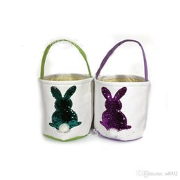 $enCountryForm.capitalKeyWord Australia - Easter Basket Skep Canvas Bag Explosive Money Diy Manual Baskets Embroidery Sequins Rabbit Eco Friendly Anti Wear 13 5czaC1