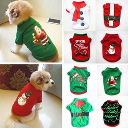 $enCountryForm.capitalKeyWord Australia - Christmas Pullover Hoodies Dog Clothes Pet Dog Cat Costume Shirt Sweater For Santa Snowman Belt Casual Clothes XS S M L