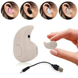 Laptops Mini Color Canada - Mini Wireless Bluetooth 4.0 STEREO In-Ear S530 Earphone Headphone Headset For iPhone laptop notebook computer Black