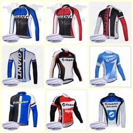 Giant Bicycles Shirts Australia - GIANT team Cycling Winter Thermal Fleece jersey Men 2019 MTB bicycle Shirt Warm Clothes Outdoor Sports Uniform U61344