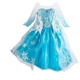 Девушки замороженные принцесса платье Платье блестки мыс с длинным рукавом платье кружева сращивание наряды Фото реквизит костюм r37 на Распродаже