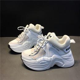 Vente en gros Boîte originale de qualité supérieure nu Wolfe femmes 70mm piste Mesh Chaussures de sport en cuir véritable concepteur en cuir Nouveaux Mode Chaussures Luxe Track
