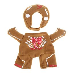 christmas outfits for dogs UK - Dog Christmas Costume Funny Sweet Cookie Man Pet Puppy Outfit for Festival Decor