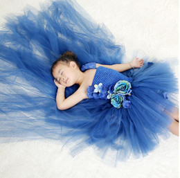 eye catching gowns UK - New Pretty Eye-catching Kids Ice fairy princess dress girl snowflake photography dress Princess tutu new show clothing wedding evening dress