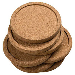 Discount table sets accessories - 12Pcs Lot Plain Round Cork Coasters Set Coffee Cup Mat Drink Pad Placemats Wine Table Mats Decor Officekitchen Accessori