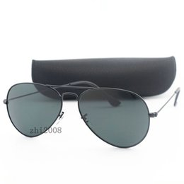 Chinese  High quality Black glass lens pilot Fashion Large Metal Sunglasses For Men and Women Cassdall Brand designer Sun glasses size 58mm with box manufacturers