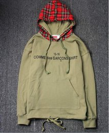 $enCountryForm.capitalKeyWord Australia - High Street Bieber Grandpa with the same type of hip hop Scottish plaid hooded color ring hair sweater jacket mens designer jackets