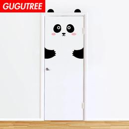 $enCountryForm.capitalKeyWord Australia - Decorate Home 3D panda animal cartoon wall door sticker decoration Decals mural painting Removable Decor Wallpaper G-809