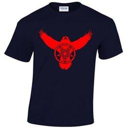 $enCountryForm.capitalKeyWord Australia - Crow Pentagram T Shirt Mens S 5XL Biker metal roCustom goth raven satanic satanist