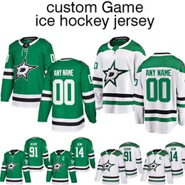 be5cf5ece Customized Jersey Customized Hockey Dallas Stars jerseys 14 Jamie Benn 91 Tyler  Seguin ice hockey jersey shirt Long sleeves top quality