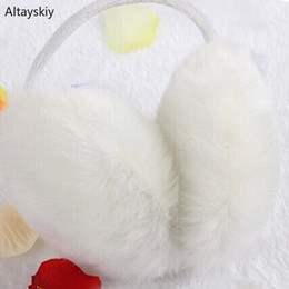 Korean earmuffs online shopping - Earmuffs Women Solid Couple Harajuku Streetwear Faux Fur Sweet Womens Furry Kawaii Earmuff Korean Style All match Simple