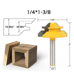Cutter Angles Australia - Wood Milling Cutter 1 2 Handle 45 Degrees Alloy Drill Bits Tenon Knife Right Angle Line Knives Woodworking Tools 35jc9 E1