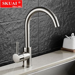 Hot Kitchen NZ - kitchen mixer Hot and Cold Water kitchen faucet brushed process swivel Basin faucet 360 degree rotation faucets