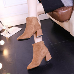 Ways Boots NZ - Sexy2019 Pattern Coarse Short Restore Ancient Ways Square Noodles Martin Increase Down Keep Warm High With Woman Boots
