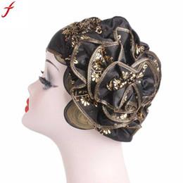 $enCountryForm.capitalKeyWord Australia - 2018 New Arrival Women Ladies Retro Big Flowers Hat Indian Turban Hats For Women Casquette Chemo Cap Headscarf