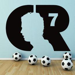 $enCountryForm.capitalKeyWord Australia - Football Wall Decal Cristiano Ronaldo Soccer Player Wall Sticker Boys Room Sports Wall Poster Football Club