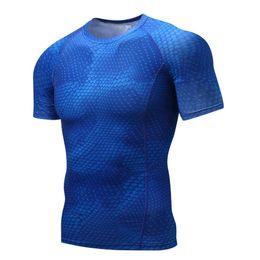 $enCountryForm.capitalKeyWord Australia - Mens Fitness 3 D Prints Short Sleeves T Shirt Men Bodybuilding Skin Tight Thermal Compression Shirts Crossfit Workout Top