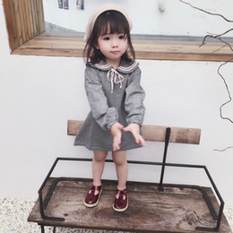 666f92234dd5 Girls skirt college plaid dress doll skirt 2019 spring and summer loaded  new children s clothing 2-7 years old long sleeve girl dress