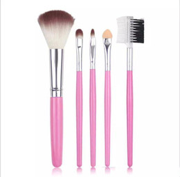 DHL 2017 New style 5 makeup brush, brush, eye shadow brush, mascara comb, beginners make-up professional tools, soft and comfortable