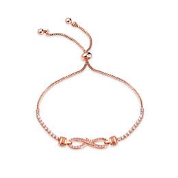 $enCountryForm.capitalKeyWord Canada - European and American fashion 8 word infinite mosaic crystal bracelet Creative ladies adjustable copper bracelet 3-KS971