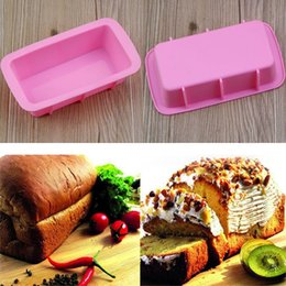 silicone loaf pans Australia - Baking Dishes Silicone Cake Mould Pan Oven Rectangle Mould Silicone Bread Loaf Cake Mold Forms Non Stick Free DHL FA2285