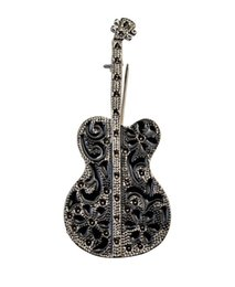 Discount cheap celtic dress - cheap Fashion Broches Guitar man Musical Instrument Brooches Corsage Dress Gift Accessory Unisex Brooch