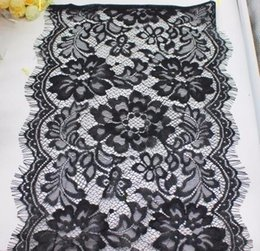 Nylon Knit Fabric Australia - 2019 For Lingerie Knitted Mesh Fabrics Shiny 100% Nylon Underwear Lace Black And White Trims 300CM Long #4