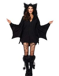 $enCountryForm.capitalKeyWord Australia - Women's Bat Costume Halloween Cape Sorceress Witch Party Cosplay Coat Jumpsuits