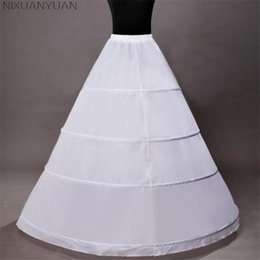 $enCountryForm.capitalKeyWord Australia - wholesale Hot Sale 4 Hoops Ball Gown Wedding Accessories Slips Crinoline Petticoats For Wedding Dress