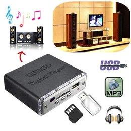 Mini Digital Audio Australia - Car Audio Amplifiers 12V Mini Motocycle Auto Car Stereo Amplifier Amp LED USB   SD Digital Player SD MMC MP3 USB Input