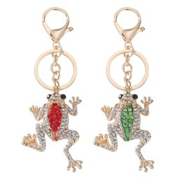 $enCountryForm.capitalKeyWord Australia - Unique Crown Frog Key Ring Keychain Fashion Metal Hand Bag Pendant Purse Bag Buckle Key Chains Holder Accessories Gift Keyring
