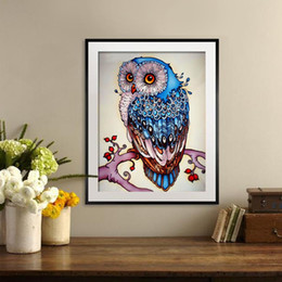 cute owl paintings 2019 - 5d Diy Diamond Painting kits Cute owl wall art canvas pictures Full Embroidery Cross Stitch Rhinestone Mosaic Painting H