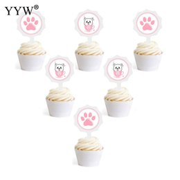 $enCountryForm.capitalKeyWord Australia - 6pcs Cartoon Cat Dog Paper Cake Ice Cream Decorating Plate Kids For Pets Card Decor Cute Pet Party Birthday Party Decorations