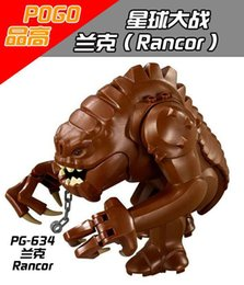 block wars Australia - Single Sale Wars Rancor Big Figures Super Heroes Jabba Dewback The Force Awakens Bricks Building Blocks Children Gift Toys PG634