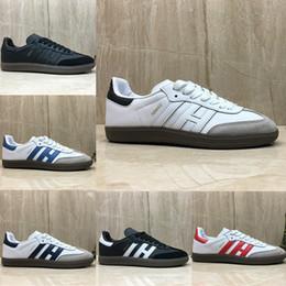 Venta al por mayor de Nuevos entrenadores de samba Hombres Zapatos casuales diseñador de moda Marca Cuero gacela og Negro blanco Rosa Hombres Runner Mujeres Zapatillas Zapatillas deportivas