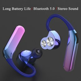 Discount action sports brands - New X6 Bluetooth Headset TWS Bilateral Stereo Hanging Ear Type 5.0 Sport Waterproof Dual Action Coil Wireless Earphone
