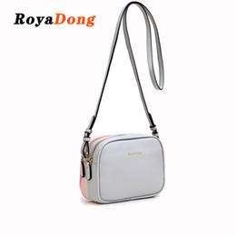 Ladies Side Handbags Australia - Royadong Brand 2019 New Pu Leather Flap Women Messenger Bags Double-side Color Shoulder Bag Female Crossbody Bags Lady Handbags Y19061705