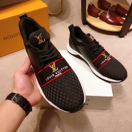 Shoe box packaging online shopping - 2019a autumn new top designer fashion men s sports shoes trend wild low top casual shoes original box packaging size