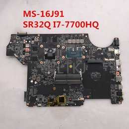 Msi I7 Australia - High quality For MS-16J91 Laptop motherboard With SR32Q I7-7700HQ CPU GTX1050M 4 GB 100% full Tested