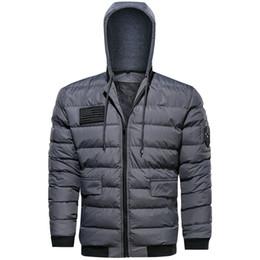 Men Green Parka Australia - Dropshipping Winter Jacket Men Fashion Windbreaker Hooded Jackets Mens Outwear Windproof Parka Plus Size 5xl Streetwear Coats